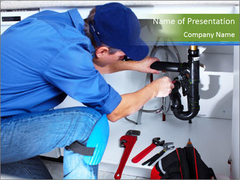 Professional plumber PowerPoint Template