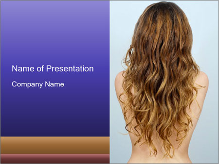 Beautiful hair PowerPoint Template