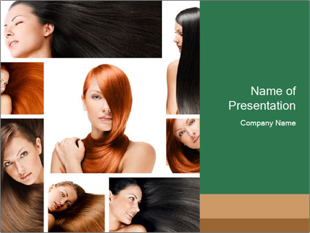 Fashion hairstyle PowerPoint Template