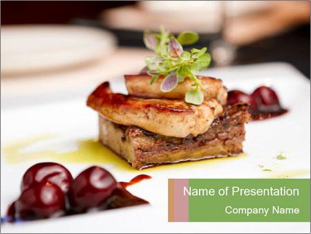 Fried foie gras PowerPoint Template