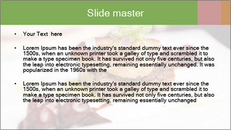 Fried foie gras PowerPoint Template - Slide 2