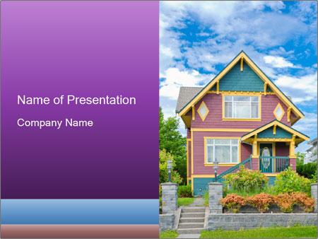 Heritage home PowerPoint Templates