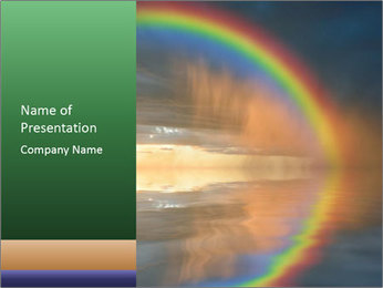 Colorful rainbow PowerPoint Template - Slide 1