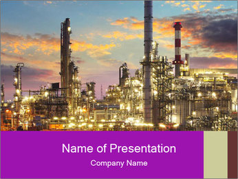Oil refinery PowerPoint Templates - Slide 1