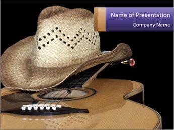 Acoustic guitar PowerPoint Template - Slide 1
