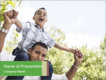 Hispanic Father PowerPoint Template