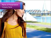 Young brunette PowerPoint Templates