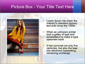 Young brunette PowerPoint Template - Slide 13