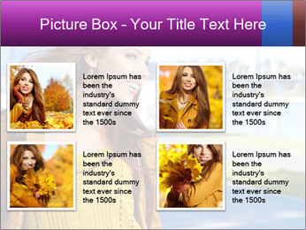 Young brunette PowerPoint Template - Slide 14