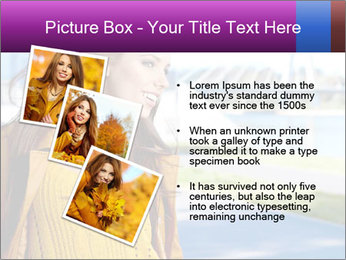 Young brunette PowerPoint Template - Slide 17