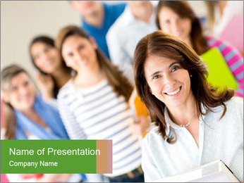 Female teacher PowerPoint Template - Slide 1