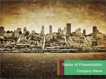 View from Alcatraz PowerPoint Template