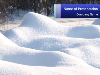 Fresh snow PowerPoint Template - Slide 1
