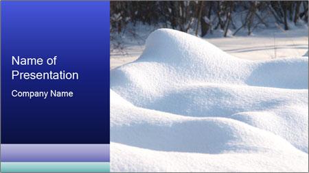 Fresh snow PowerPoint Template
