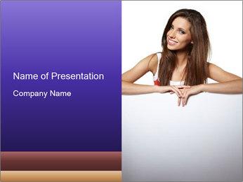 Happy woman PowerPoint Template - Slide 1