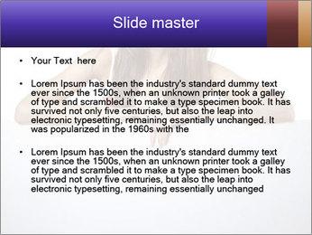 Happy woman PowerPoint Template - Slide 2