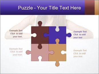 Happy woman PowerPoint Template - Slide 43