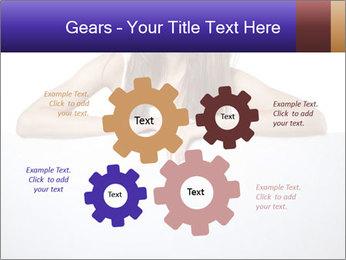 Happy woman PowerPoint Template - Slide 47