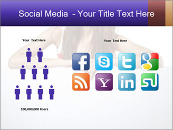 Happy woman PowerPoint Template - Slide 5