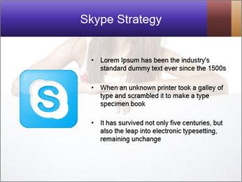 Happy woman PowerPoint Template - Slide 8