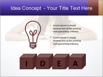 Happy woman PowerPoint Template - Slide 80