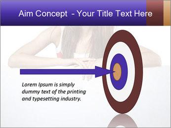 Happy woman PowerPoint Template - Slide 83