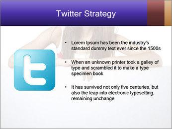 Happy woman PowerPoint Template - Slide 9