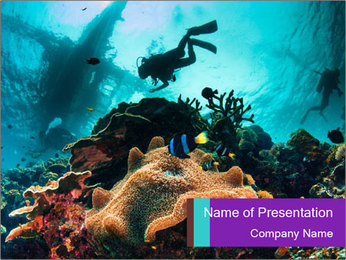 Sea scape PowerPoint Template - Slide 1