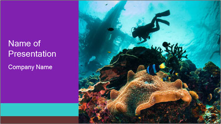 Sea scape PowerPoint Template