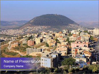 Arab village PowerPoint Templates - Slide 1