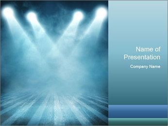 Background in show PowerPoint Template - Slide 1
