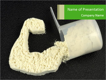 Protein power PowerPoint Template - Slide 1