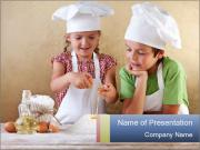 Kids with chef hats PowerPoint Templates