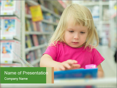Adorable girl PowerPoint Template