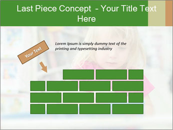 Adorable girl PowerPoint Template - Slide 46