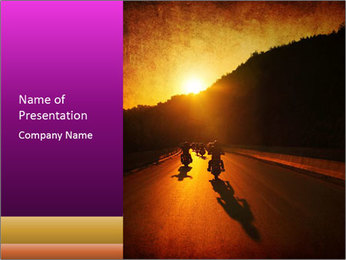 Motorcycle ride PowerPoint Template - Slide 1