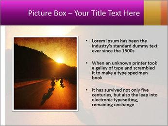 Motorcycle ride PowerPoint Template - Slide 13