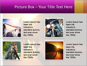 Motorcycle ride PowerPoint Template - Slide 14
