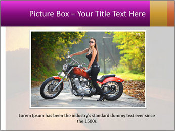 Motorcycle ride PowerPoint Template - Slide 15