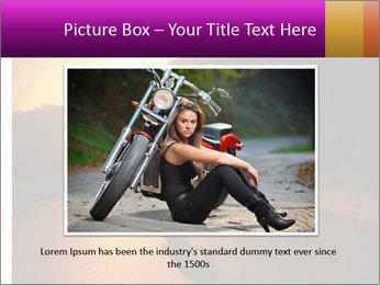 Motorcycle ride PowerPoint Template - Slide 16