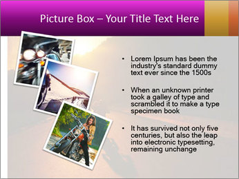 Motorcycle ride PowerPoint Template - Slide 17