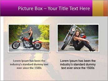 Motorcycle ride PowerPoint Template - Slide 18