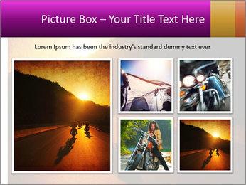 Motorcycle ride PowerPoint Template - Slide 19