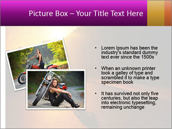 Motorcycle ride PowerPoint Template - Slide 20