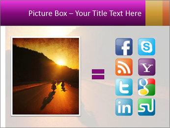 Motorcycle ride PowerPoint Template - Slide 21