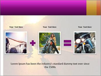 Motorcycle ride PowerPoint Template - Slide 22