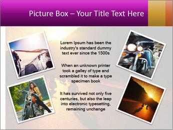 Motorcycle ride PowerPoint Template - Slide 24