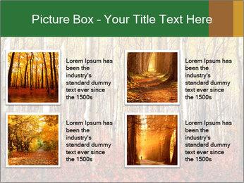 Yellow aspens PowerPoint Template - Slide 14