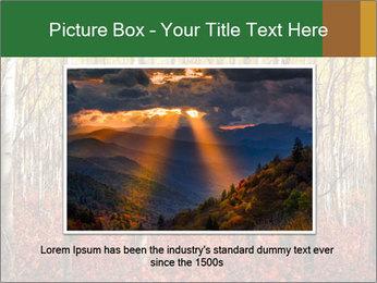 Yellow aspens PowerPoint Template - Slide 16