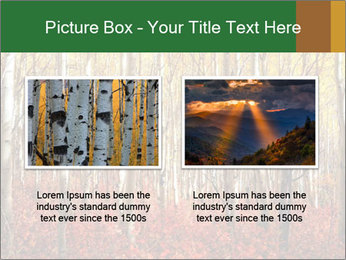 Yellow aspens PowerPoint Template - Slide 18